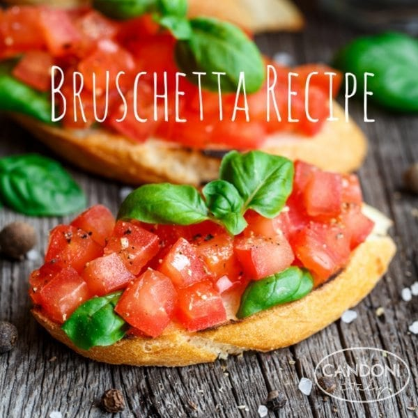 Bruschetta Recipe: With Fresh Tomatoes and Basil (Perfect Snack For Football) | Candoni Wines