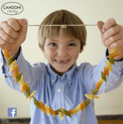 Pasta Arts & Crafts | Dry Pasta Necklace | Candoni Facebook Contest