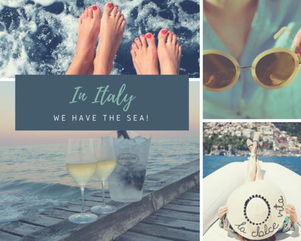 italian wine by the sea