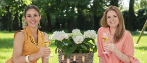 Barbara and Caterina with Ricco wines