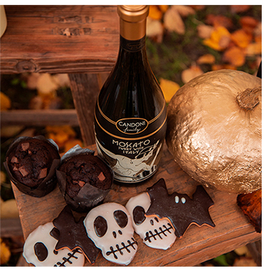 Candoni Moscato Wine - Halloween